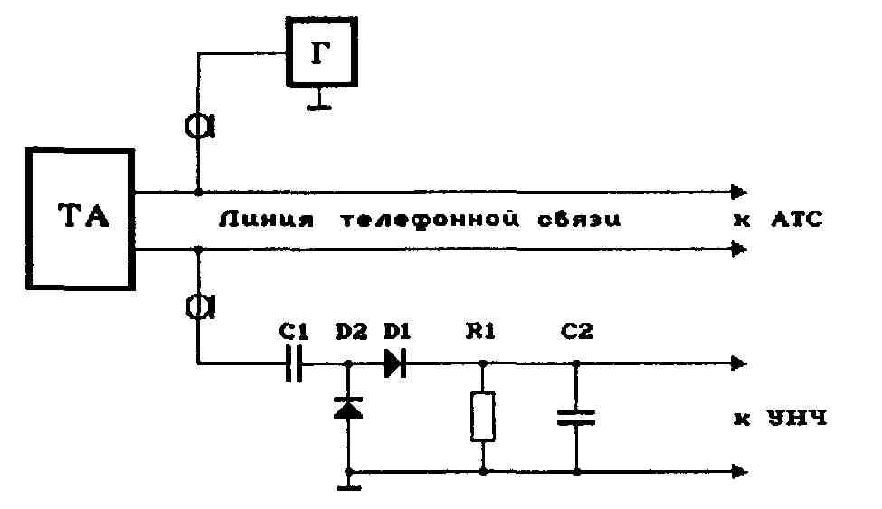 Схема использования микрофона