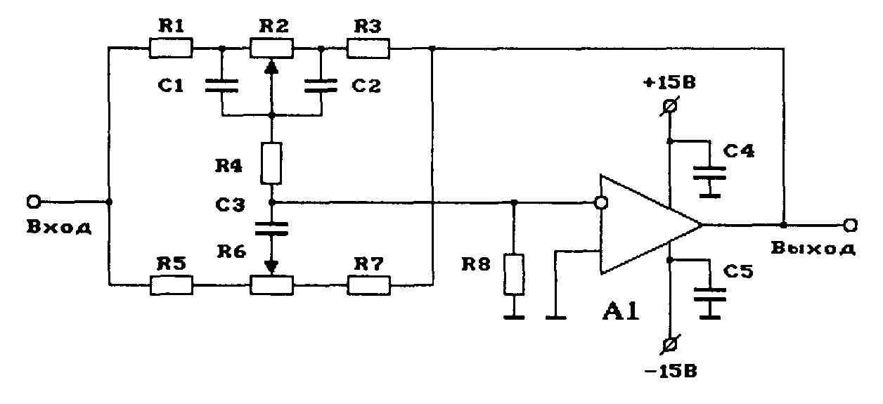 Схема двухполосного регулятора