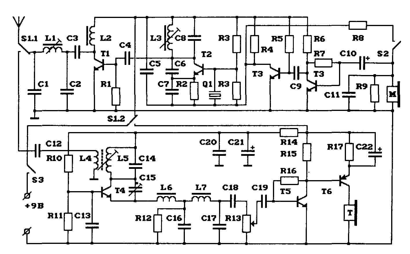 27мгц радиостанция схема