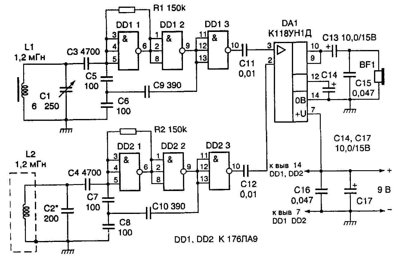 Электронные схемы металлоискателей 12 фотография